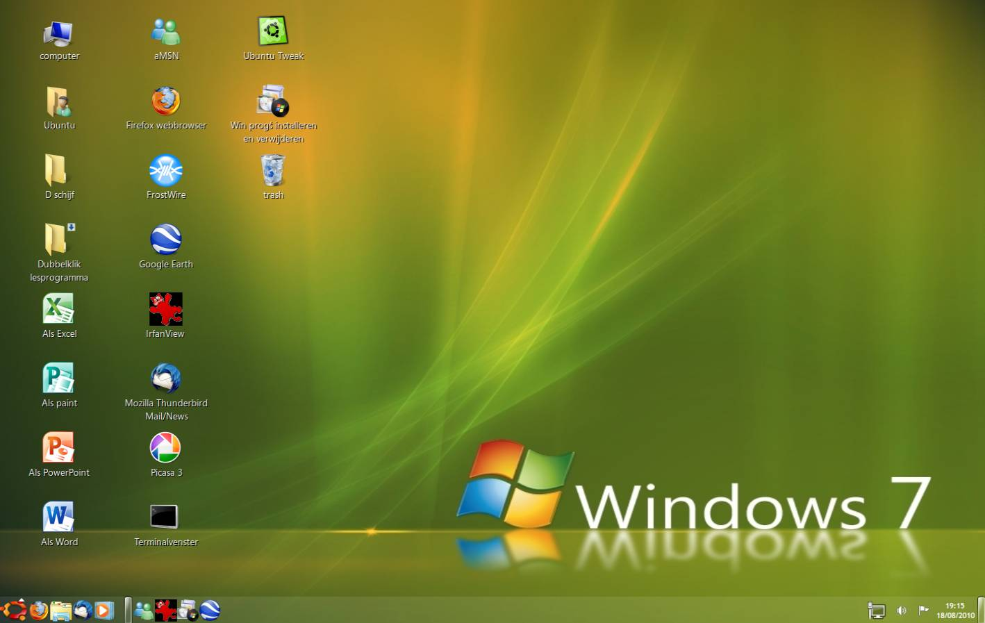 Windows 7 afsluit snelkoppeling for Windows 7 bureaublad