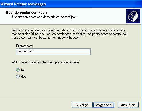 poort in gebruik printer